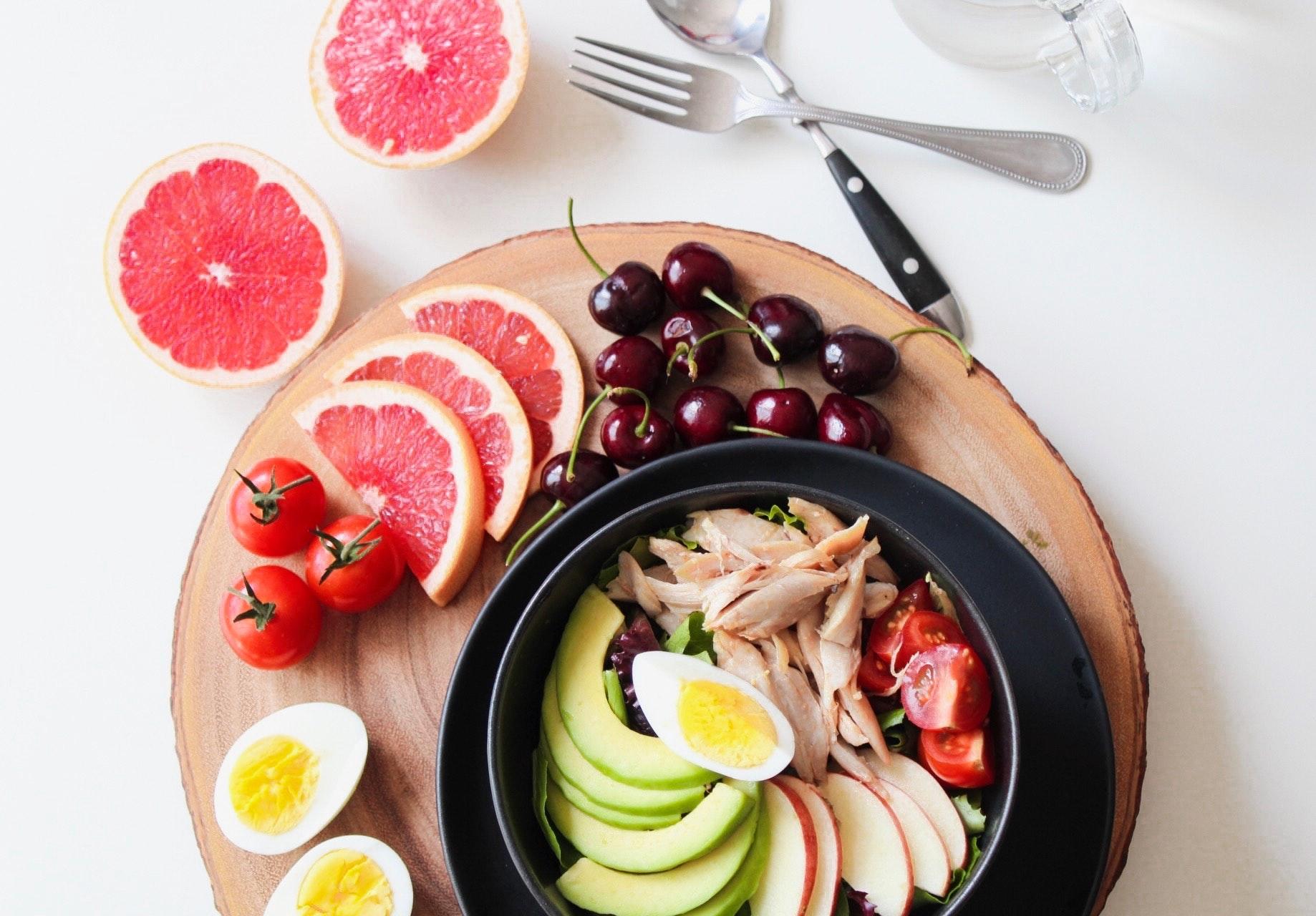Egg og frukt